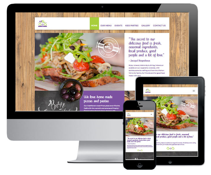 O&O Cafe Website Design